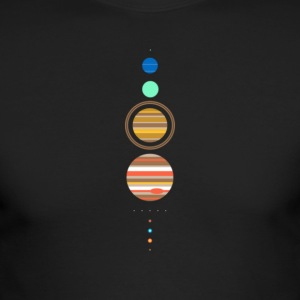 The Minimal Solar System - Men's Long Sleeve T-Shirt by Next Level