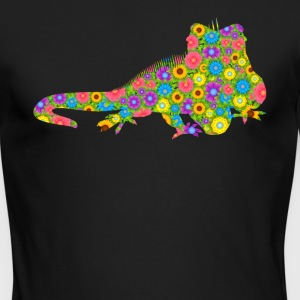 Iguana Flower Shirt - Men's Long Sleeve T-Shirt by Next Level