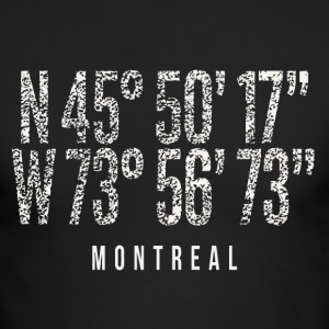 Montreal Canada City Pride Distressed Coordinates - Men's Long Sleeve T-Shirt by Next Level