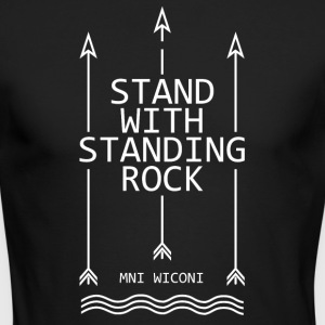 Stand with standing rock - Men's Long Sleeve T-Shirt by Next Level