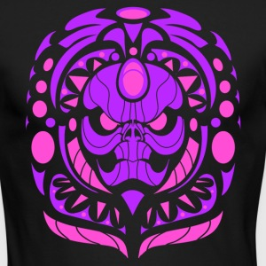 tribal skull pink - Men's Long Sleeve T-Shirt by Next Level