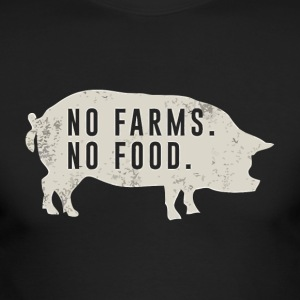 No farms no food pig - Men's Long Sleeve T-Shirt by Next Level