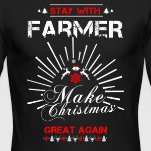 Stay with Farmer T Shirts - Men's Long Sleeve T-Shirt by Next Level