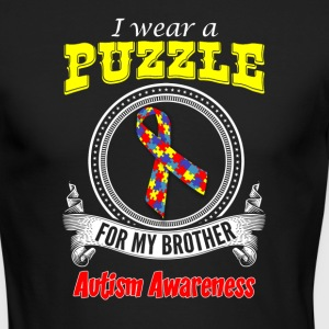 I wear a Puzzle for my Brother - Autism Awareness - Men's Long Sleeve T-Shirt by Next Level