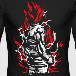 Goku Silluette - Dragon Ball - Men's Long Sleeve T-Shirt by Next Level