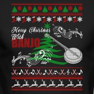 Banjo Shirt - Banjo Christmas Shirt - Men's Long Sleeve T-Shirt by Next Level