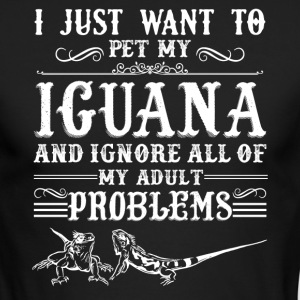 Pet My Iguana Shirt - Men's Long Sleeve T-Shirt by Next Level