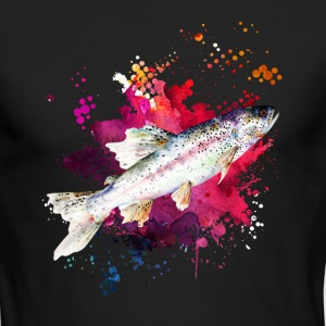 Salmon Watercolor Shirts - Men's Long Sleeve T-Shirt by Next Level