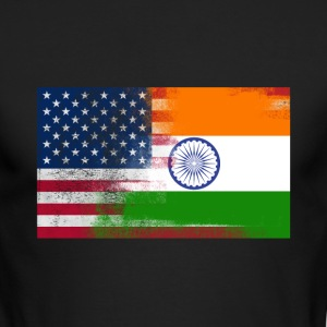 Indian American Half India Half America Flag - Men's Long Sleeve T-Shirt by Next Level