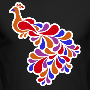 Peacock Tee Shirt - Men's Long Sleeve T-Shirt by Next Level