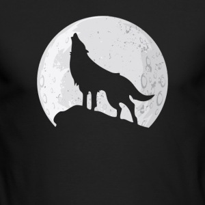Wolf Howling at Moon - Men's Long Sleeve T-Shirt by Next Level