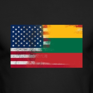 Lithuanian American Half Lithuania Half America Fl - Men's Long Sleeve T-Shirt by Next Level