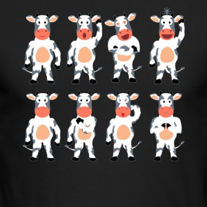 Cow Tee Shirt - Men's Long Sleeve T-Shirt by Next Level