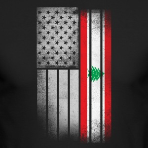 Lebanese American Flag - Men's Long Sleeve T-Shirt by Next Level