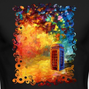 British Red Phone Box - Men's Long Sleeve T-Shirt by Next Level