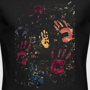 Hands paint - Men's Long Sleeve T-Shirt by Next Level