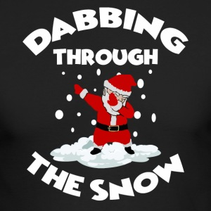 Dabbin Through the Snow Santa Ugly Christmas Shirt - Men's Long Sleeve T-Shirt by Next Level