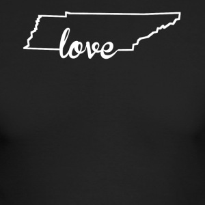 Tennessee Love State Outline - Men's Long Sleeve T-Shirt by Next Level