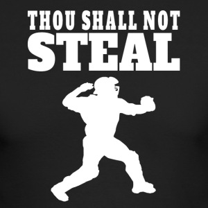 Thou Shall Not Steal Funny Baseball Catcher - Men's Long Sleeve T-Shirt by Next Level