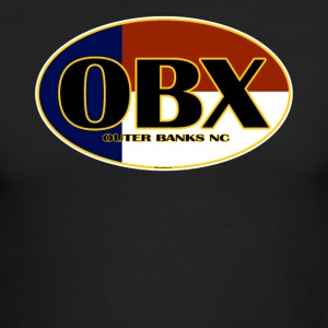 OBX Outer Banks North Carolina Flag - Men's Long Sleeve T-Shirt by Next Level