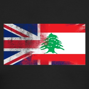 British Lebanese Half Lebanon Half UK Flag - Men's Long Sleeve T-Shirt by Next Level
