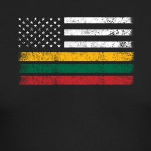 Lithuanian American Flag - USA Lithuania Shirt - Men's Long Sleeve T-Shirt by Next Level