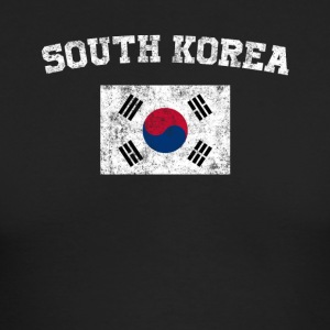 South Korea Flag Shirt - Vintage South Korea T-Shi - Men's Long Sleeve T-Shirt by Next Level