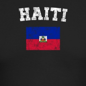 Haitian Flag Shirt - Vintage Haiti T-Shirt - Men's Long Sleeve T-Shirt by Next Level