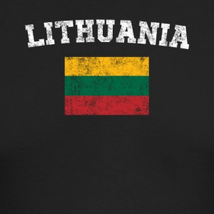 Lithuanian Flag Shirt - Vintage Lithuania T-Shirt - Men's Long Sleeve T-Shirt by Next Level