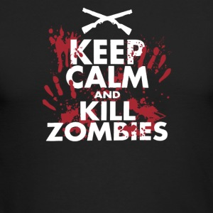 Keep Calm And Kill Zombies - Men's Long Sleeve T-Shirt by Next Level