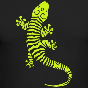 Gecko goes tattoo - Men's Long Sleeve T-Shirt by Next Level