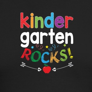 Kindergarten Rocks T Shirt Funny Student and Teach - Men's Long Sleeve T-Shirt by Next Level