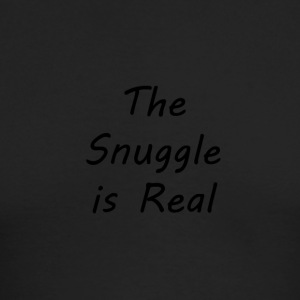 The-Snuggle-is-Real - Men's Long Sleeve T-Shirt by Next Level