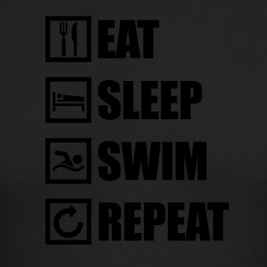 EAT SLEEP SWIM REPEAT - Men's Long Sleeve T-Shirt by Next Level