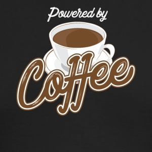 Powered by coffee - Men's Long Sleeve T-Shirt by Next Level