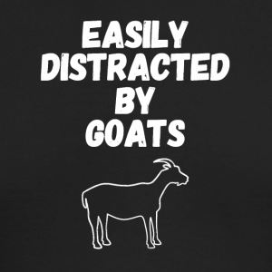 Easily distracted by goats - Men's Long Sleeve T-Shirt by Next Level