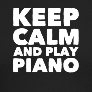Keep calm and play piano - Men's Long Sleeve T-Shirt by Next Level