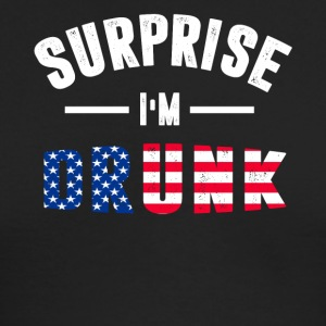 Surprise I m Drunk T-Shirt - Men's Long Sleeve T-Shirt by Next Level
