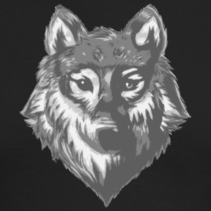 wolf sketch - Men's Long Sleeve T-Shirt by Next Level
