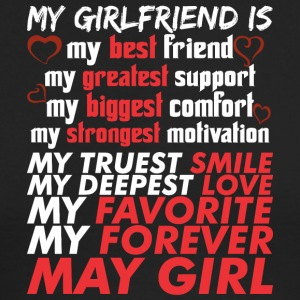 My Girlfriend Is May Girl - Men's Long Sleeve T-Shirt by Next Level