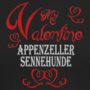 A romantic Valentine with my Appenzeller Sennenhun - Men's Long Sleeve T-Shirt by Next Level