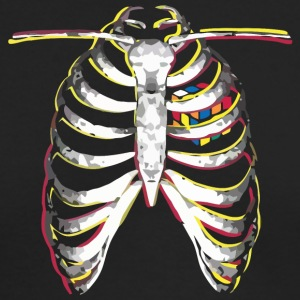 s Cube Colourful Ribcage - Men's Long Sleeve T-Shirt by Next Level