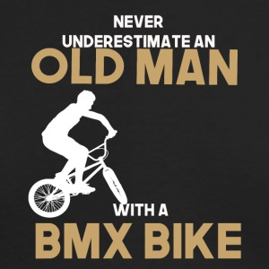never undererstimate an old man with a bmx bike - Men's Long Sleeve T-Shirt by Next Level