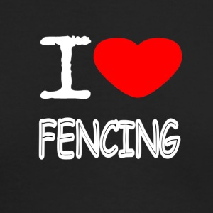 I LOVE FENCING - Men's Long Sleeve T-Shirt by Next Level