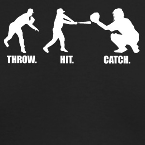 Throw Hit Catch Baseball - Men's Long Sleeve T-Shirt by Next Level