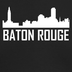 Baton Rouge Louisiana City Skyline - Men's Long Sleeve T-Shirt by Next Level