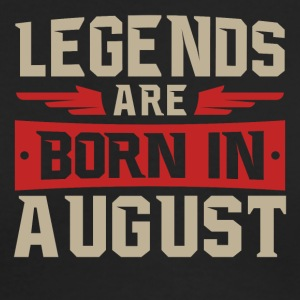 Legends Are Born in August - Men's Long Sleeve T-Shirt by Next Level