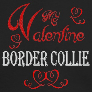 A romantic Valentine with my Border Collie - Men's Long Sleeve T-Shirt by Next Level