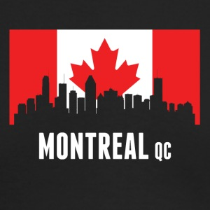 Canadian Flag Montreal Skyline - Men's Long Sleeve T-Shirt by Next Level