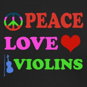 Peace love Violins - Men's Long Sleeve T-Shirt by Next Level